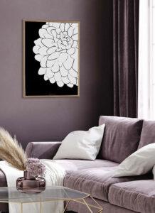 Plakat kwiaty – odmień swoje wnętrze przy pomocy nowych dekoracji